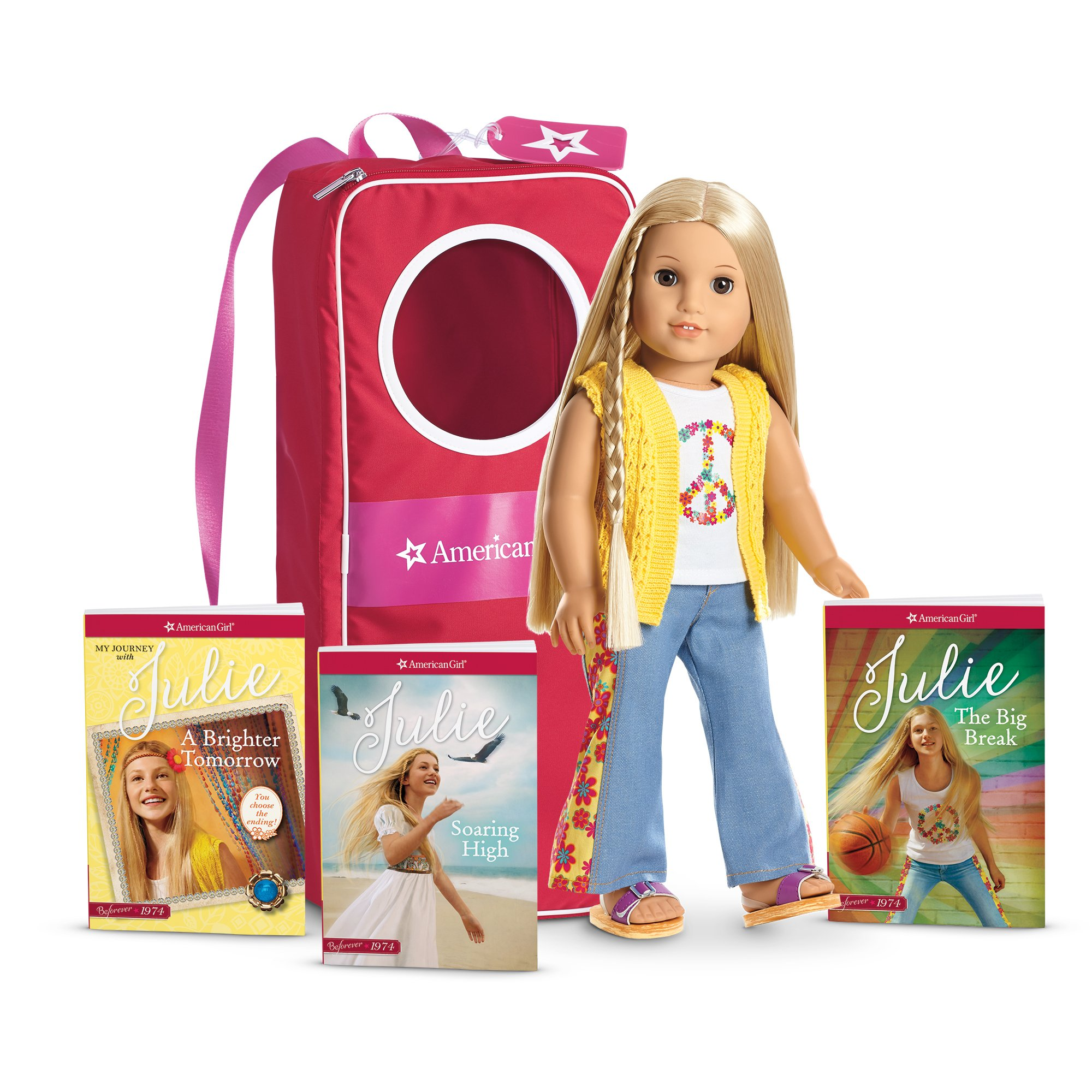 American Girl Julie Doll, Book and Backpack Collection