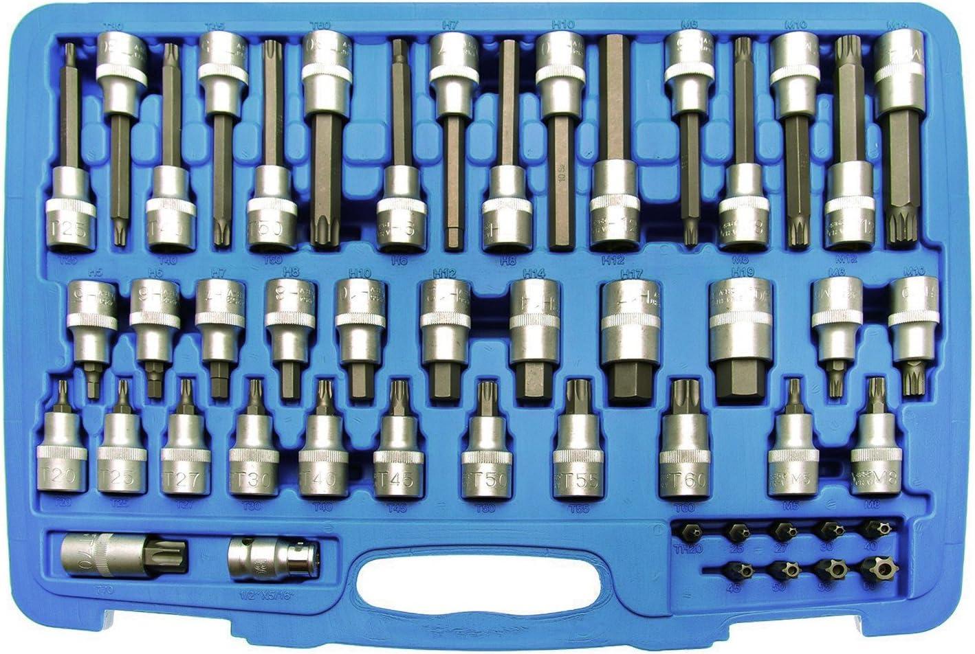 Bit-Einsatz 12,5 mm L/änge 100 mm T45 f/ür Torx BGS 4473 1//2   T-Profil