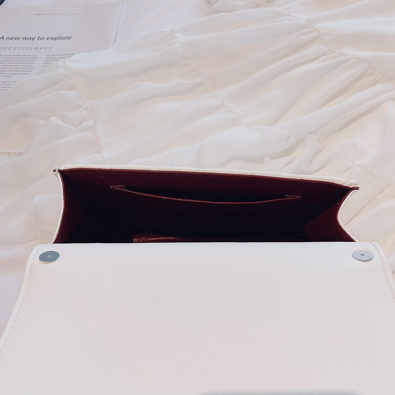 White 21 6 cm Pearl Decoration OL Elegant Women G Buckle Fashion Lingge Handbag Leather Casual Joker Crossbody Dinner Clutch Gold Chain Bag 18