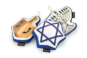 P.L.A.Y. Pet estilo de vida y You – Hanukkah Set – Empuje juguete para gatos y