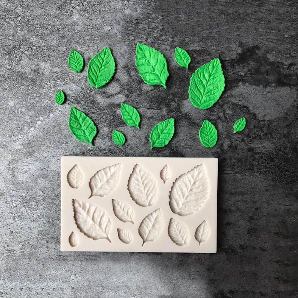 Shangwelluk Moule en Silicone en Forme de Feuille Moules /à G/âteau Moules en Silicone Fondant D/écoration Moule de Cuisson en Silicone pour Chocolats Bonbons et Gla/çons
