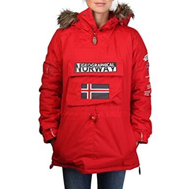 Geographical Norway Anorak Building Woman Rojo - Mujer - XL: Amazon.es: Ropa y accesorios