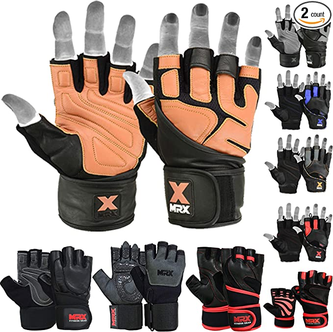 Last Punch Brown Fingerless Sport Weight lifting Workout Gloves All Sizes S-XXL