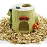 Alfie Pet by Petoga Couture - Tree Hideout Hut for Small Animals like Dwarf Hamster and Mouse
