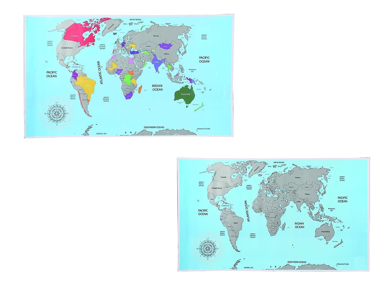 88 x 52 cm, 1 unidad multicolor Mapa del mundo Out of the Blue 29//2900