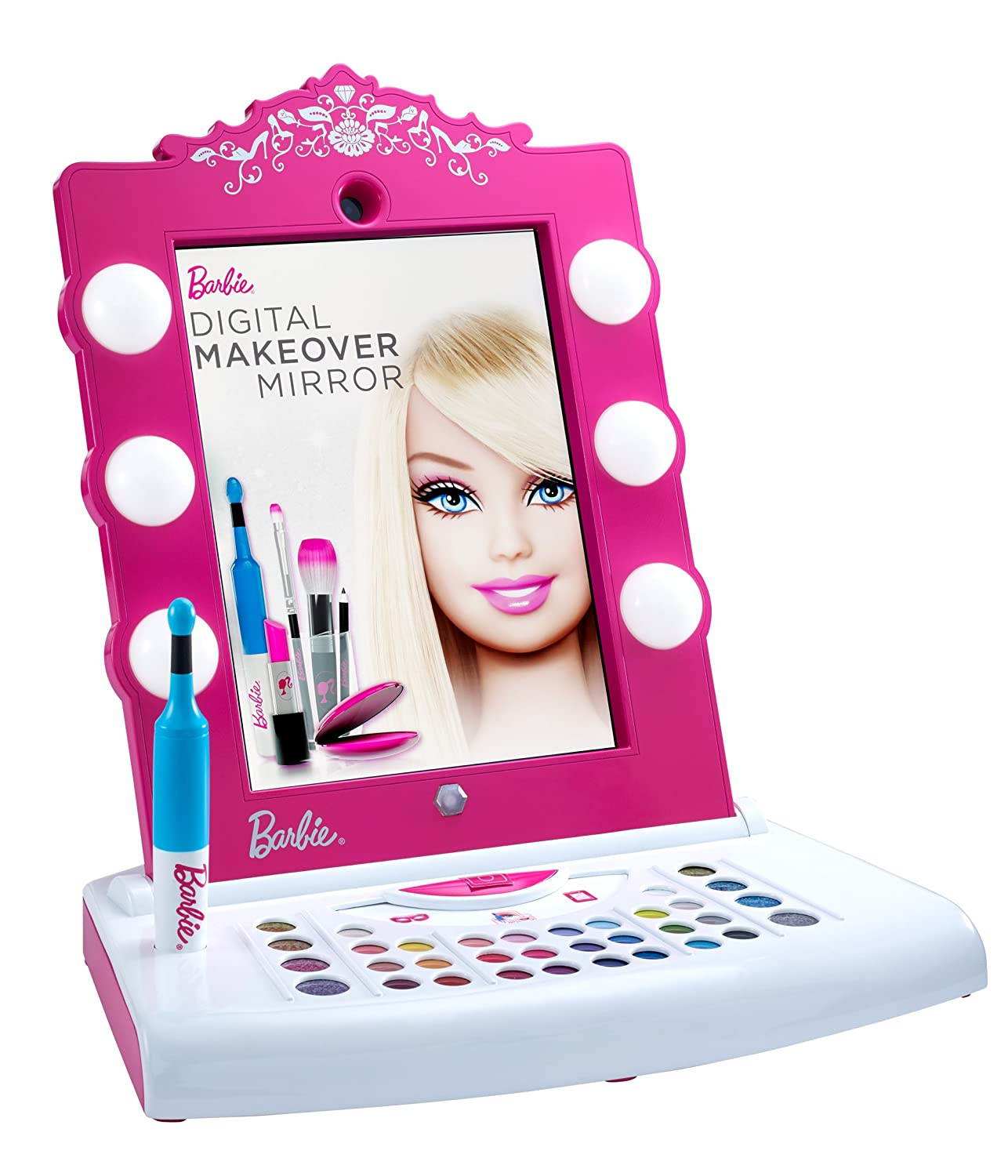 amazon com barbie digital makeover mirror toys u0026 games