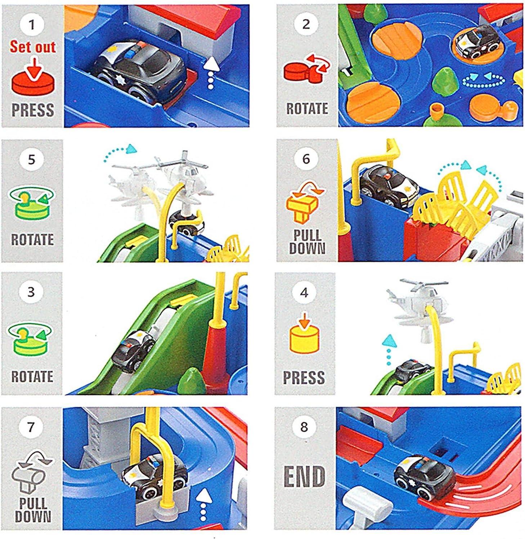 City Rescue Auto Giocattoli di Avventura Playsets Ljourney Pista Macchinine Giocattolo Giochi per Bambini 3 4 5 6 7 8 Anni Piste da Corsa Giocattoli per Bambino Bambina