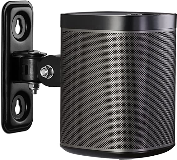 Amazon Com Mount It Sonos Speaker Wall Mount Bracket For Sonos Play 1 Tilt Swivel Adjustable Black 4 4 Lbs Capacity Not Compatible With Sonos One