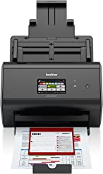 Brother ImageCenter ADS-2800W Wireless Document Scanner, Multi-Page Scanning, Color Touchscreen, Integrated