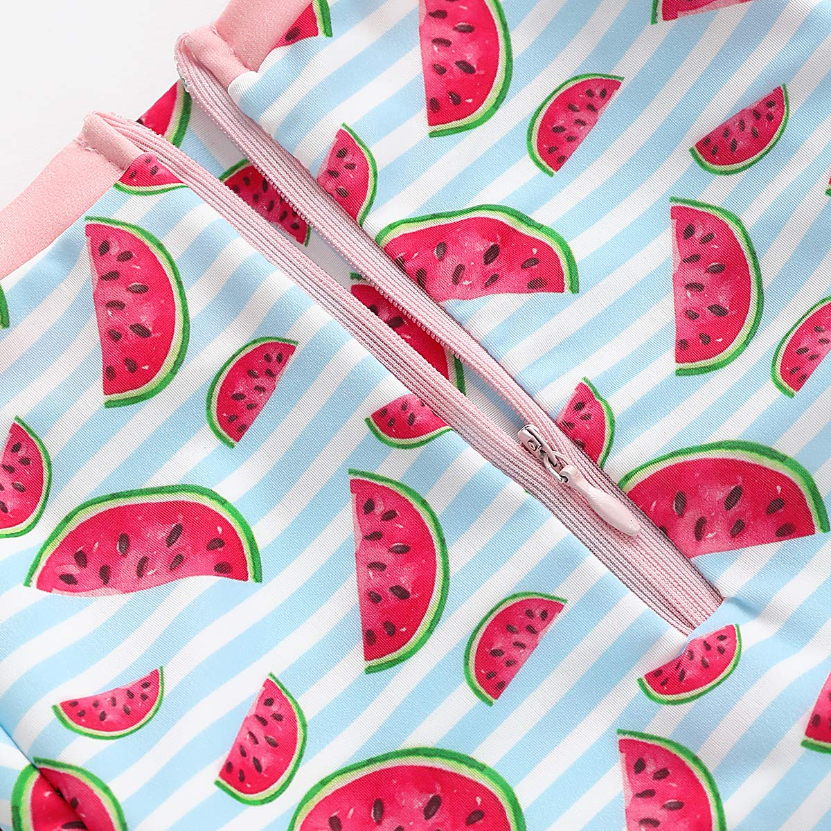 Xiao Reddou Baby//Toddler Girls Summer Beach Romper Long Sleeve One Piece Swimsuit with Zipper