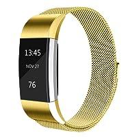 Tobfit Bracelet Compatible avec Fitbit Charge 2 (2 Tailles) Acier Inoxydable Milanaise Un Replacement Bracelet pour Fitbit Charge 2 (No Tracker)