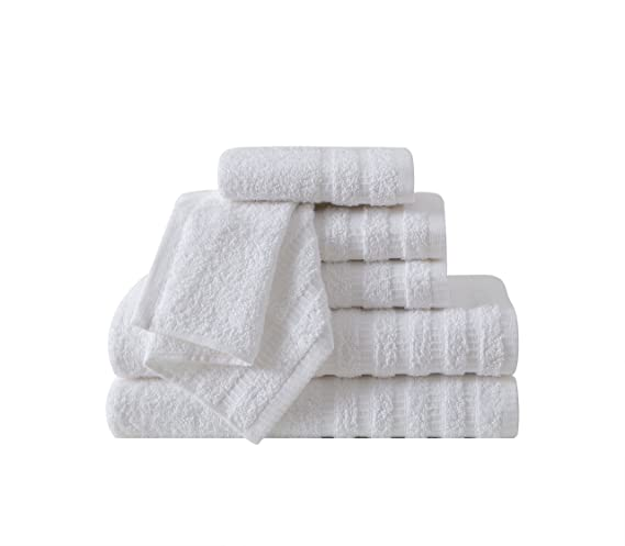 Amazon.com: VCNY Home Wide Ribbed Bath Towels Set, 6 Piece, Indigo Blue: Home & Kitchen