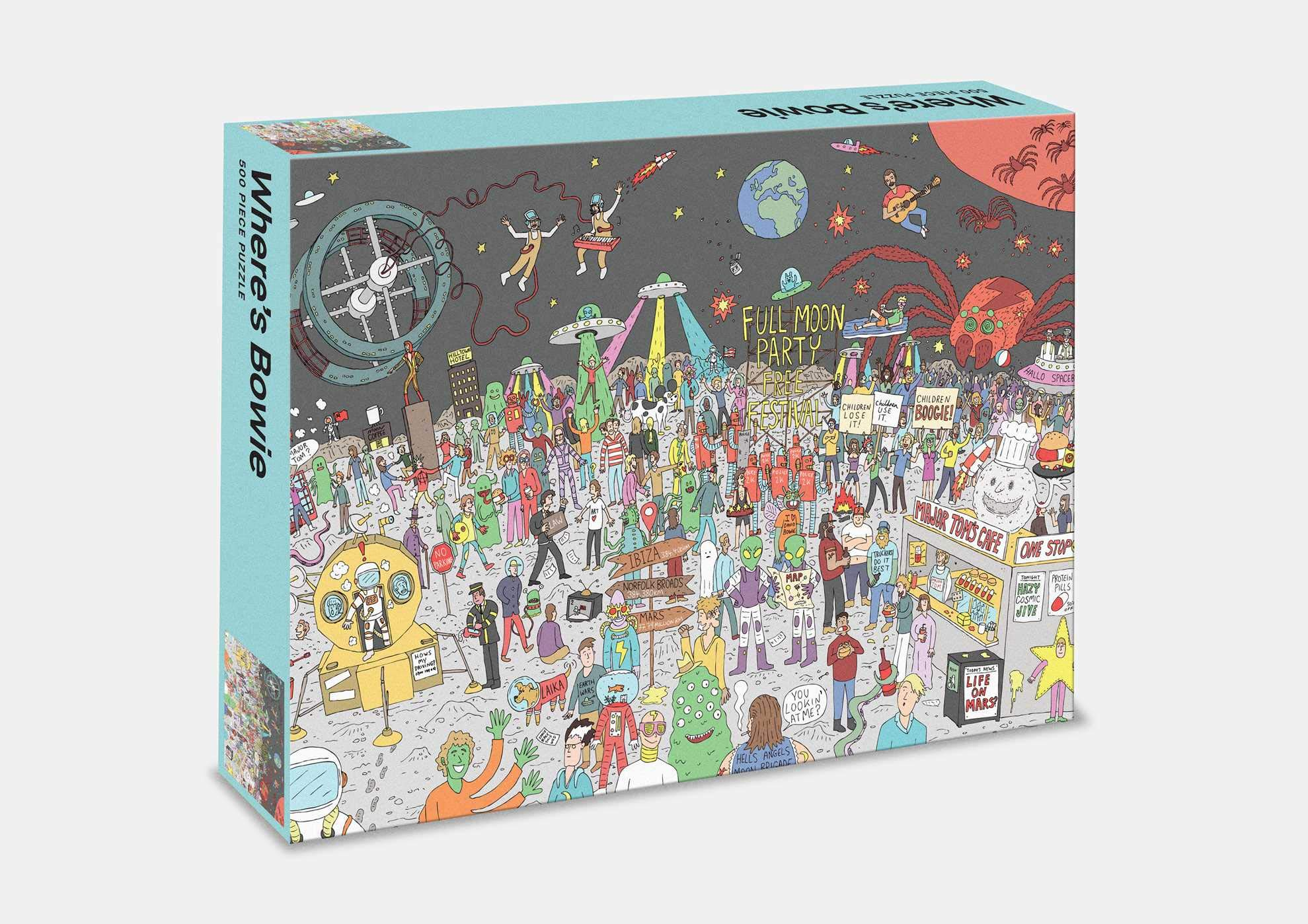 Wheres Bowie? 500 piece jigsaw puzzle: Jigsaw Puzzle: A 500-piece Quest to Find Our Beloved Starman: Amazon.es: Gahan, Kev: Libros en idiomas extranjeros