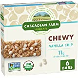 Cascadian Farm Organic Vanilla Chip Chewy Granola Bars, 6 ct, 7.4 oz