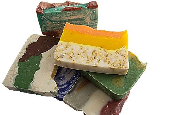 Barra de Jabón de flores (6 barras)-de invitados jabones. brasileño barro, color naranja caléndula, bambú lila, Basil, Rosa lavanda y aguacate jabón de ...