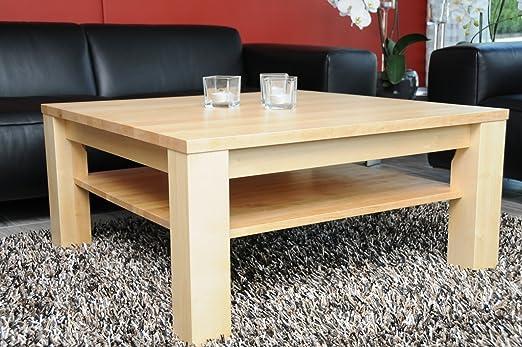 Holz Projekt Summer Couchtisch Tisch 60x60cm Mit Ablage Birke Höhe