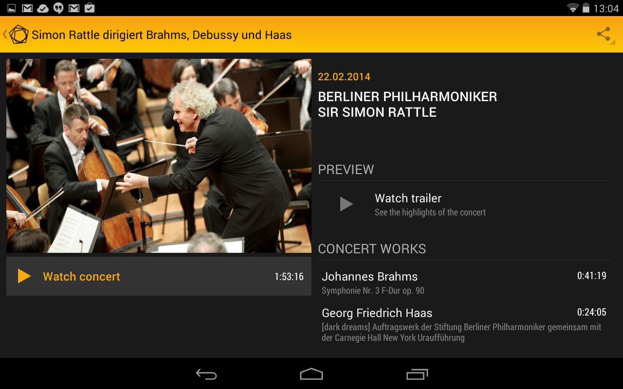 Amazon Digital Concert Hall Appstore For Android