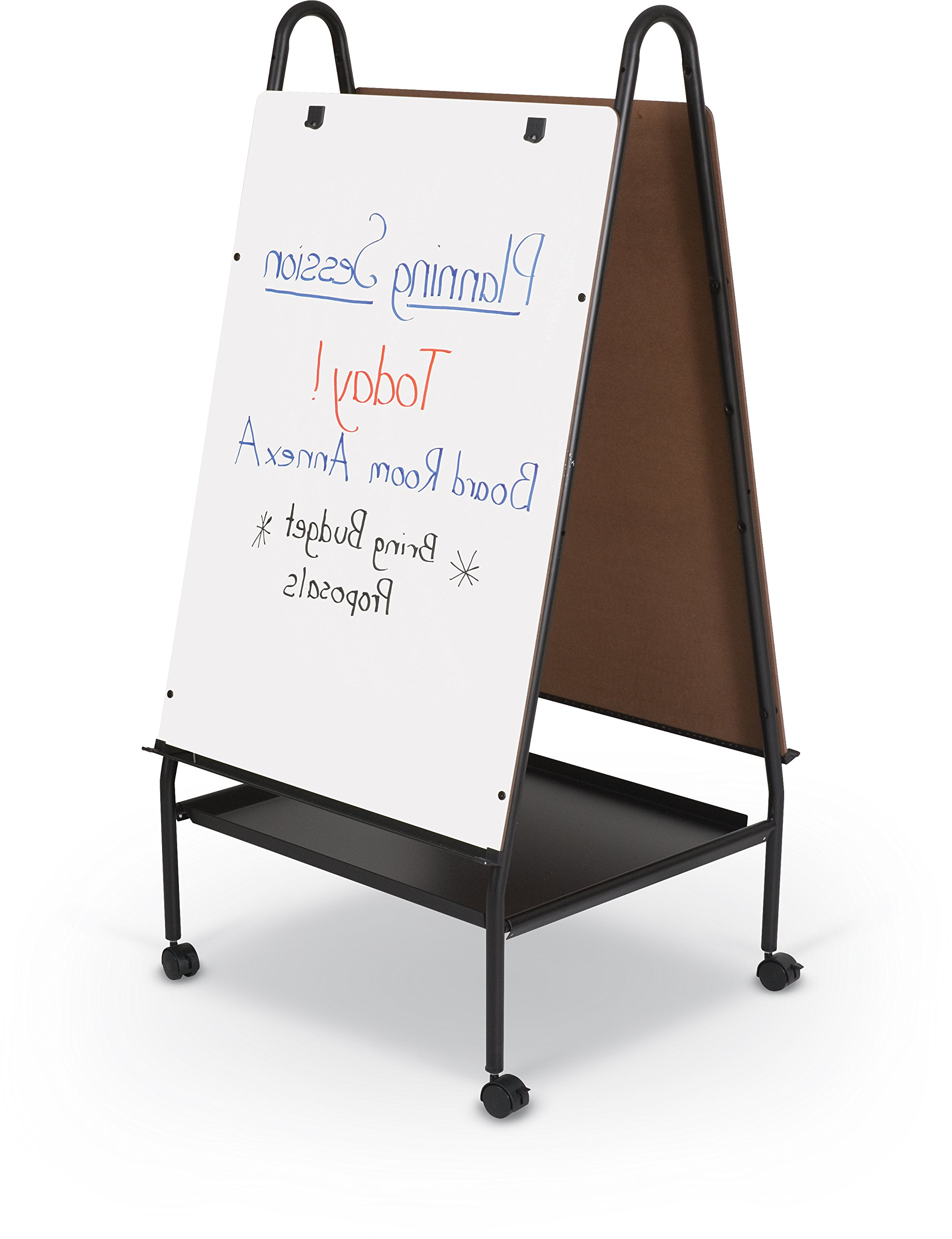 Best-Rite Wheasel, Double Sided Dry Erase Melamine Whiteboard Easel, 65''H x 28.75''W x 27''D (759)