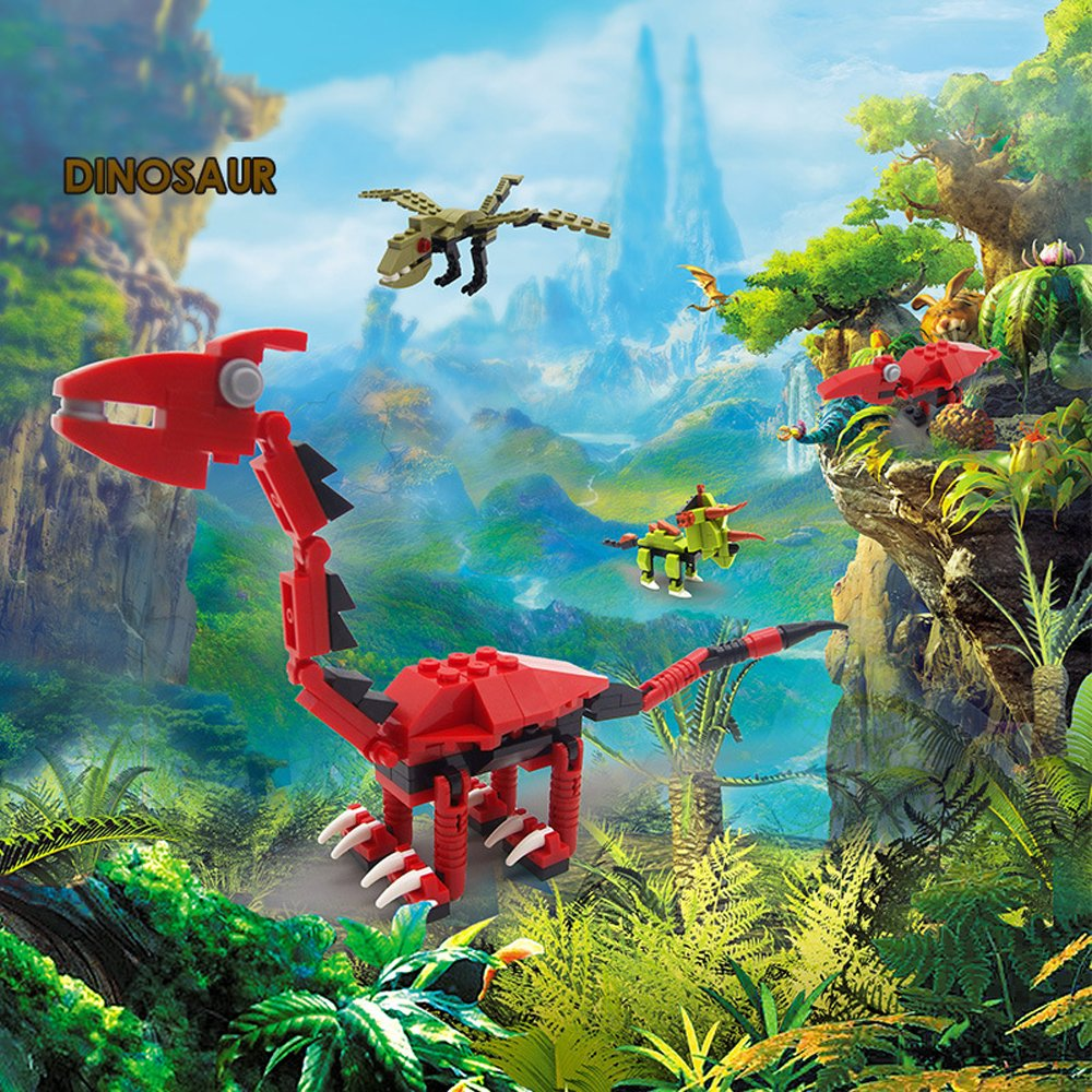 Amazon com: SOWOFA Dinosaur 3D Puzzle Model Kits DIY Dino