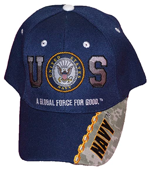 181aca0b2ea ... Official United States US Navy A Global Force For Good Navy Blue  Baseball Cap timeless design