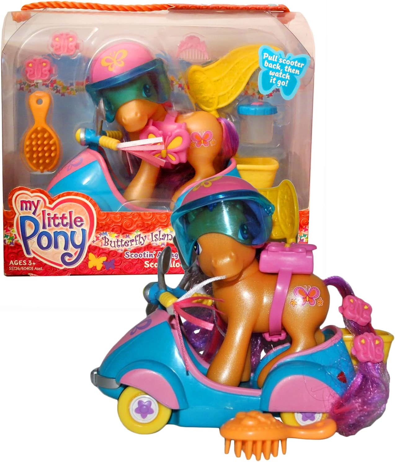 Amazon Com Year 2004 My Butterfly Island Little Pony Series 4 Inch Tall Figure Scootin Along With Scootaloo Plus Helmet Container Hairpin And Hairbrush Toys Games Scootaloo is a major supporting character in friendship is magic and one of the cutie mark crusaders. butterfly island little pony series
