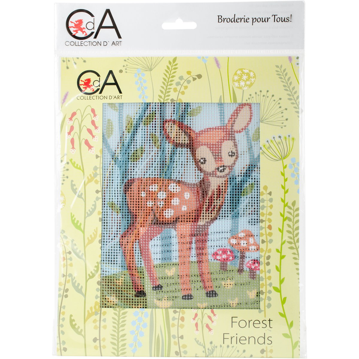 RTO Fawn Collection D'Art Stamped Needlepoint Kit 3319K