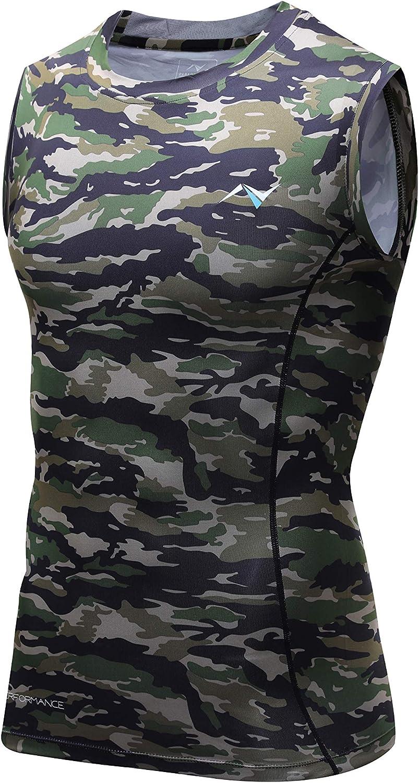 WENOOZ Men's Cool Dry Sleeveless Compression Tank Top Shirt