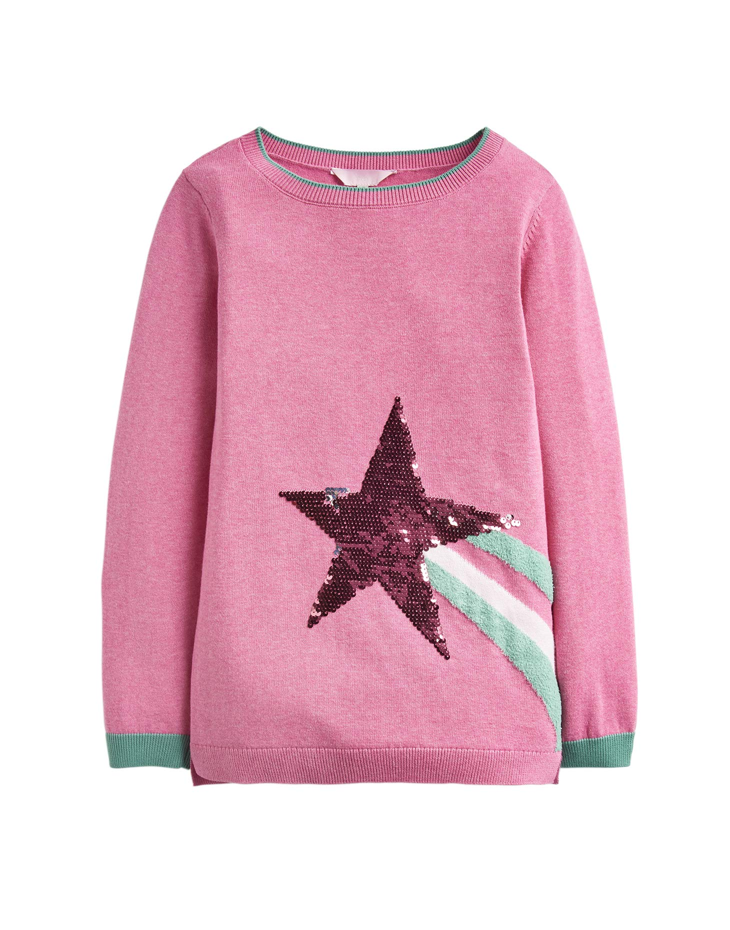 Joules Miranda Knitted Jumper - Blossom Pink Shooting Star - 3 Years - 98 cm by Joules