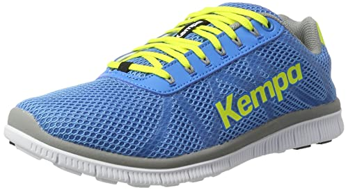 Kempa K-Float, Scarpe da Pallamano Unisex - Adulto, Blu (Bleu Cendré/Jaune Spring), 45.5 EU