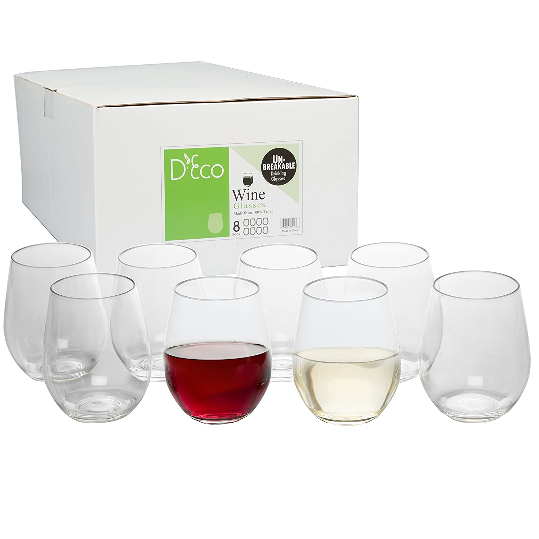 Best Dishwasher For Wine Glasses Amazoncom Unbreakable Wine Glasses 100 Tritan Shatterproof