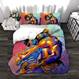 KING DARE King African American Lovers Couple Bedding Duvet Cover 3 Piece Set with Zipper, Soft Comfortable Breathable,King(1