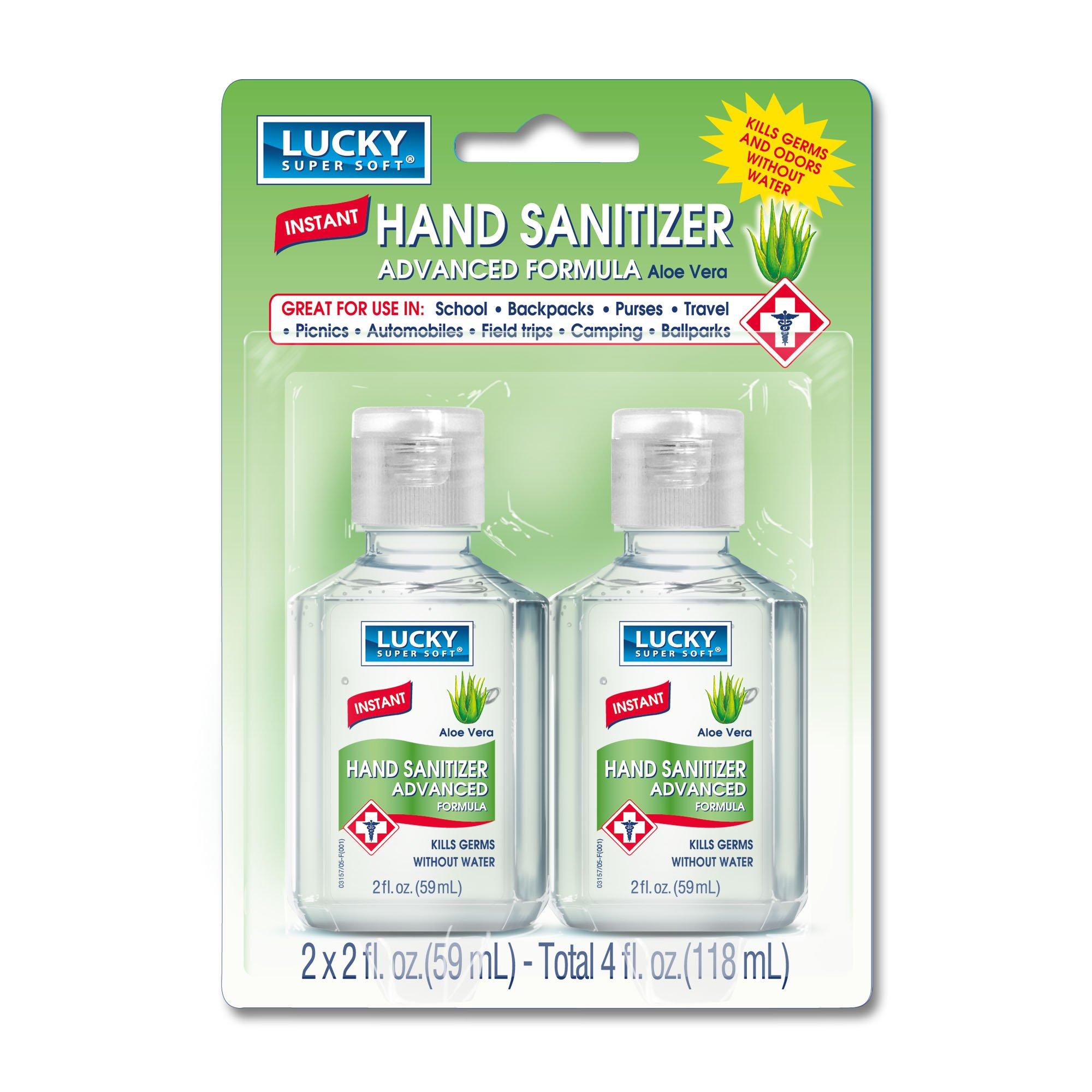 Lucky Super Soft Hand Sanitizer, Clear, Aloe Vera, 4 Fluid Ounce