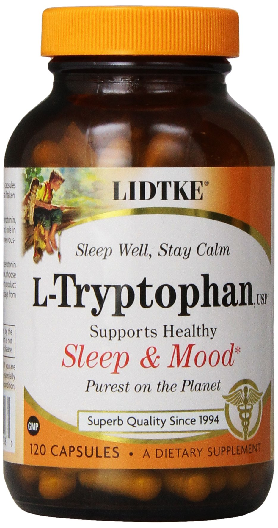 Lidtke Technologies L-Tryptophan Capsules 120 Count 12