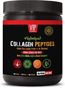 Joint Support Formula Dietary Supplement - Collagen PEPTIDES HYDROLIZED - Hair, Skin, Nail, Joint and Bone Support - Collagen Supplements Made in USA - 1 Bottle 1 LB (454 Grams)