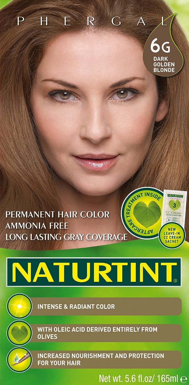 Color de cabello-6G/rubio dorado oscuro Naturtint 5 oz líquido