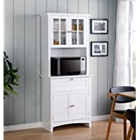 Deals on OS Home and Office Buffet & Hutch w/Framed Glass Doors & Drawer