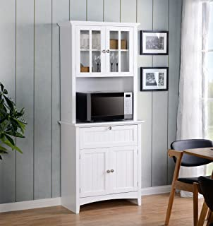American Furniture Classics Home And Office Buffet And Hutch With Framed  Glass Doors And Drawer,