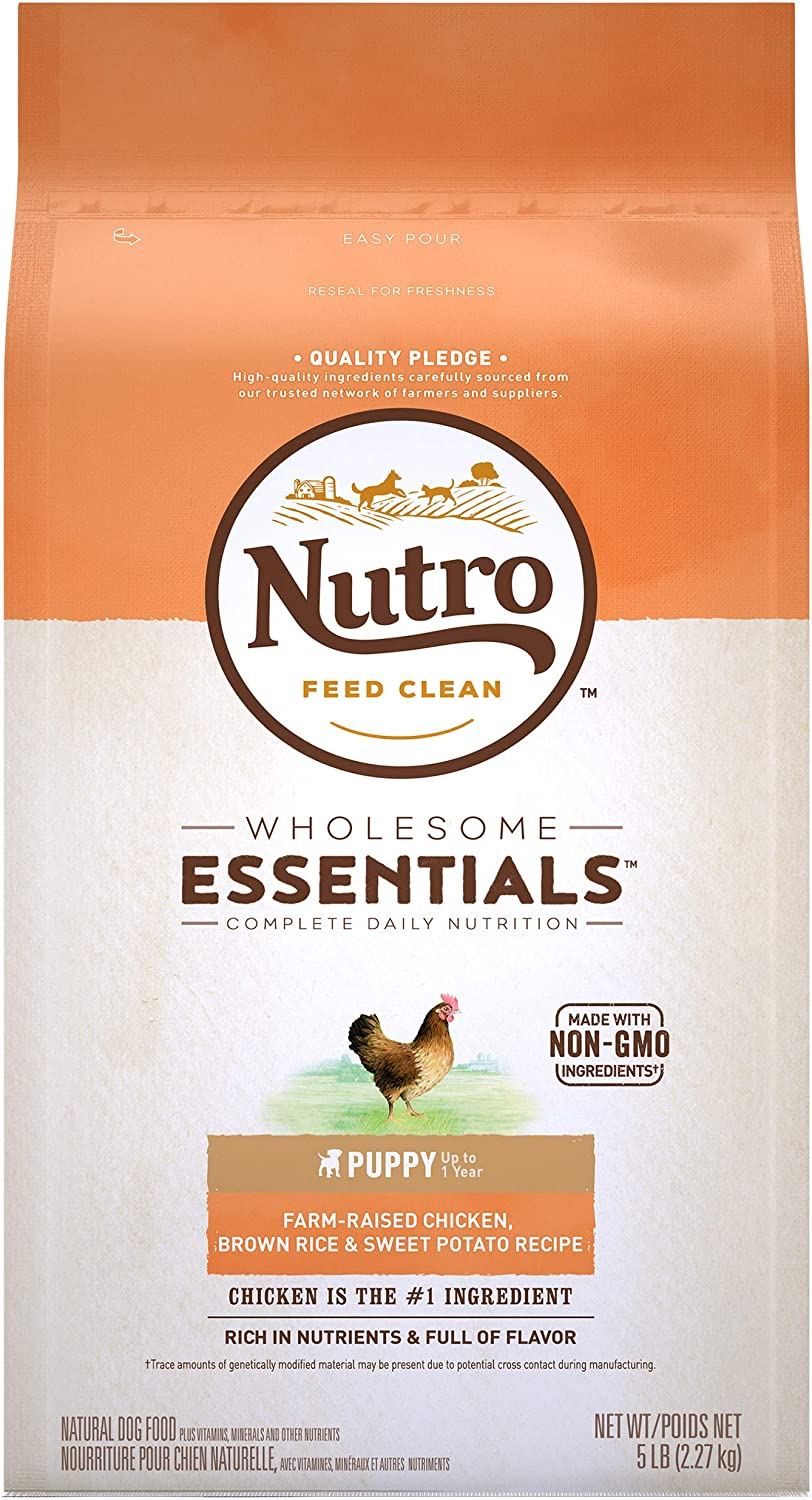 NUTRO WHOLESOME ESSENTIALS Puppy Dry Dog Food, Chicken & Lamb
