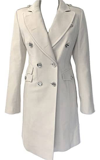 4dbb0b396c Karen Millen Stone Military Moleskin Coat (Size UK 14 / EU 42 / US 10):  Amazon.co.uk: Clothing