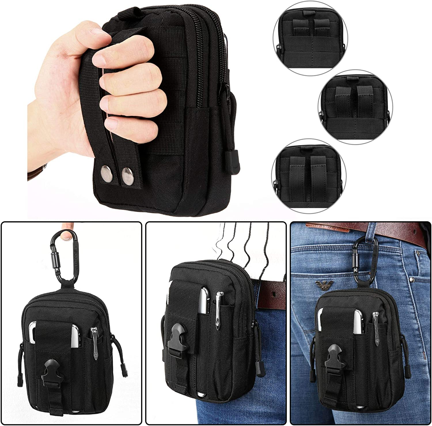 Pendant Belt Waist Bag Edc Pouch Hunting Nylon Sports Flashlight Pocket ON3