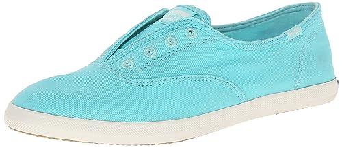 Keds Women's Chillax Washed Laceless Slip-On Sneaker, Light Aqua, 5 M US