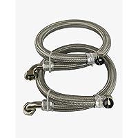 Gevlochten roestvrij stalen slangen voor waterontharder en waterfiltratie (28 mm).