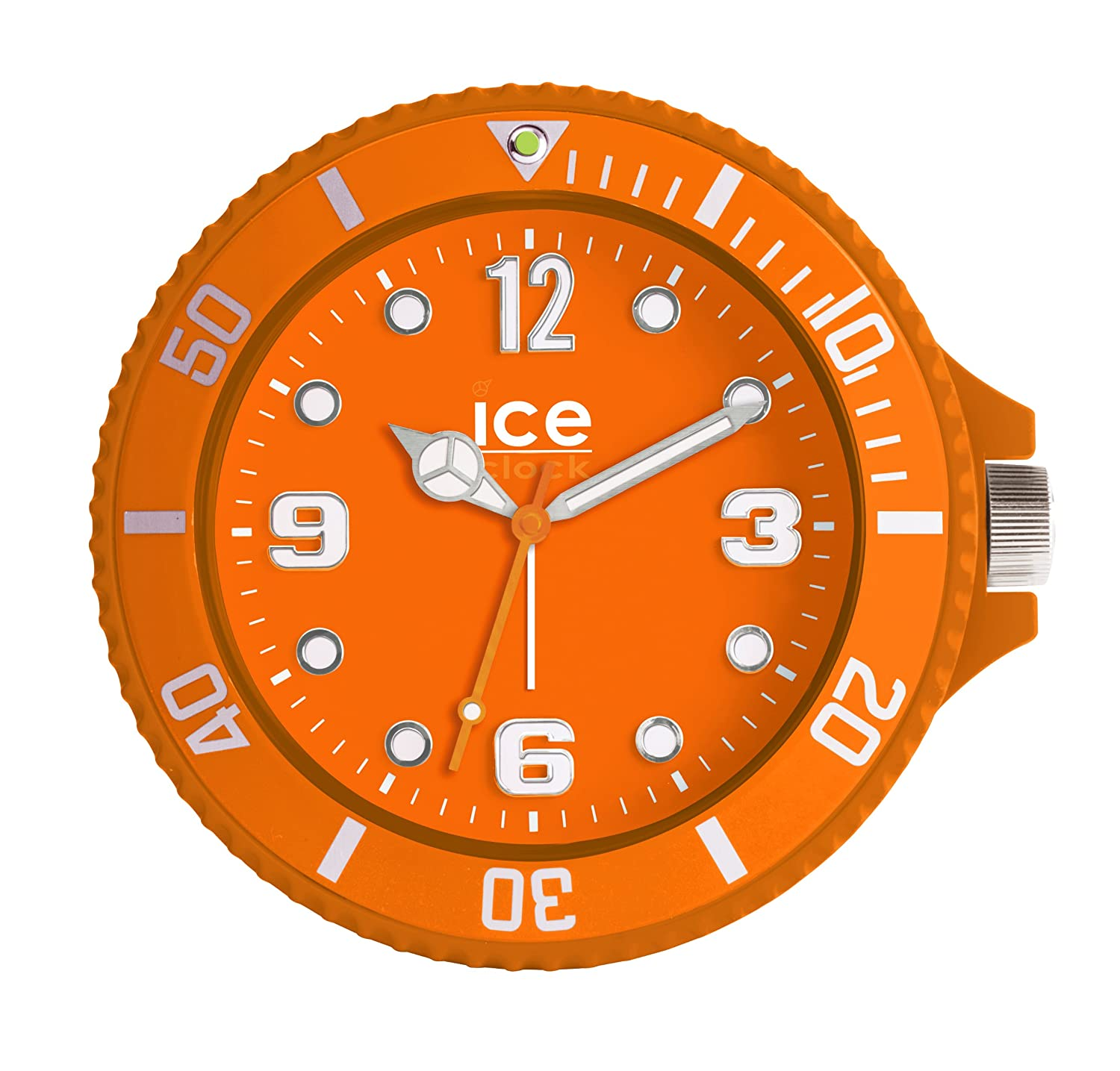 Ice clock alarm clock orange amazon kitchen home amipublicfo Choice Image