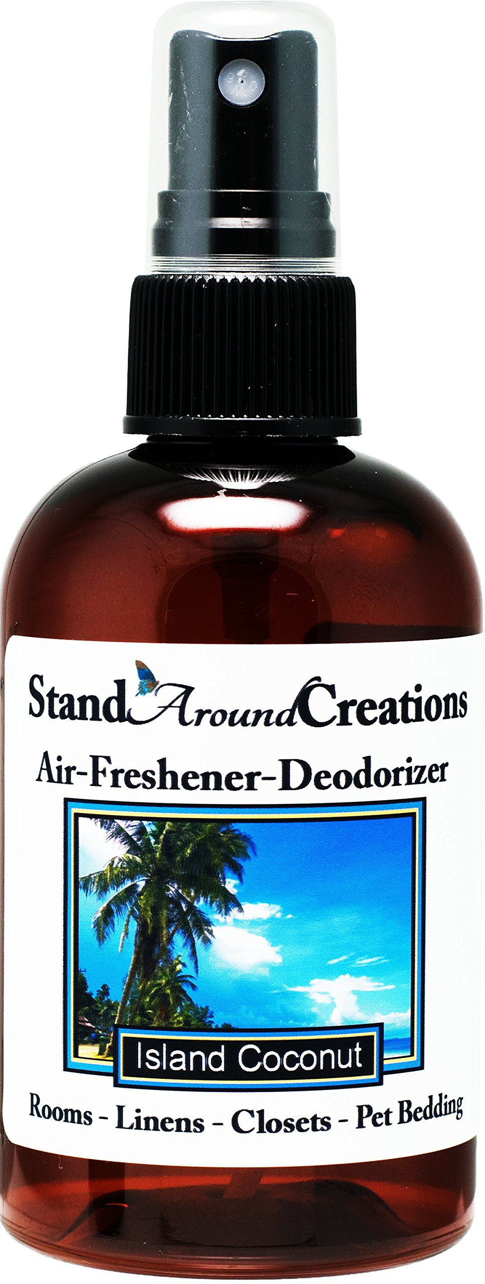 Concentrated Spray For Room / Linen / Room Deodorizer / Air Freshener - 4 fl oz - Scent - Island Coconut: The Sun infused notes of fresh Coconut w/ sweet pineapple and notes of vanilla.