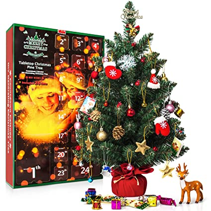 Amazon Com Sweet Diary Christmas Advent Calendar 2018 Tabletop