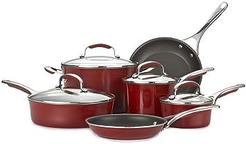 KitchenAid Gourmet antiadherente de aluminio 10 piezas), rojo: Amazon.es: Hogar