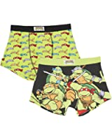Teenage Mutant Ninja Turtles Boxer Twin Pack Neuheit TMNT Herren Boxers 2 Stück