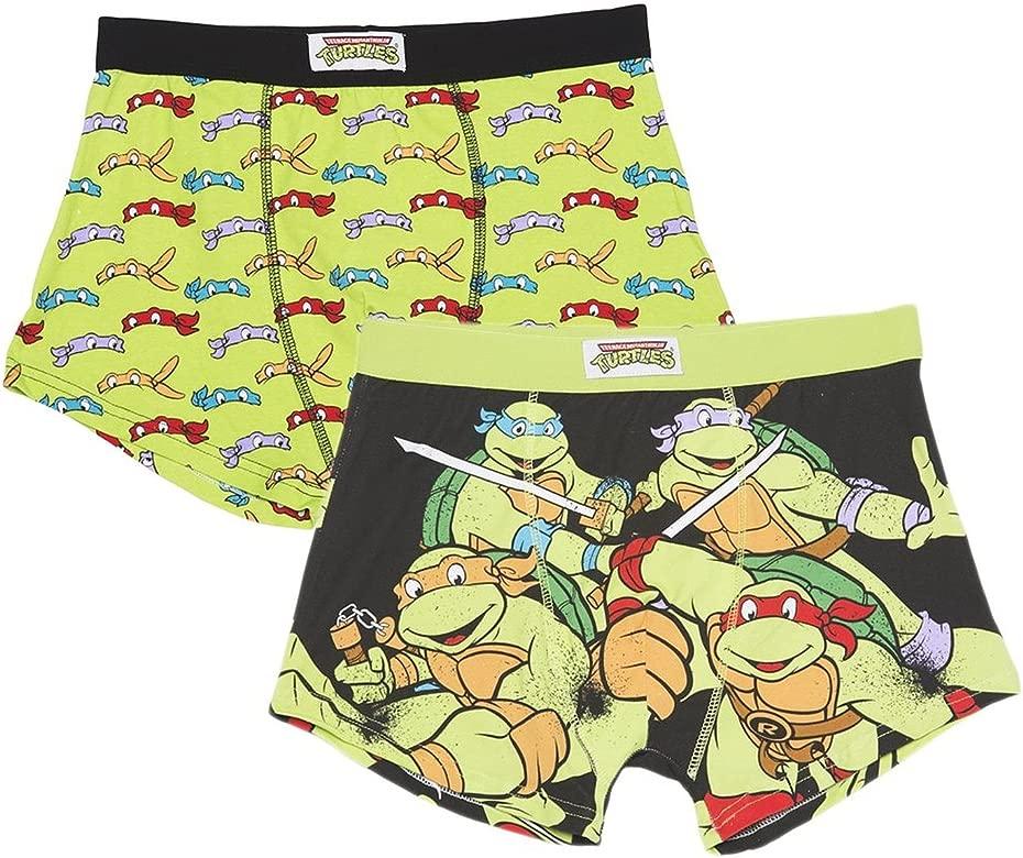Pack de 2 boxers para hombre con diseño de Las tortugas ...