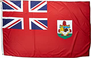 product image for Annin Flagmakers Model 220030 Bermuda Flag Nylon SolarGuard NYL-Glo, 4x6 ft, 100% Made in USA to Official United Nations Design Specifications
