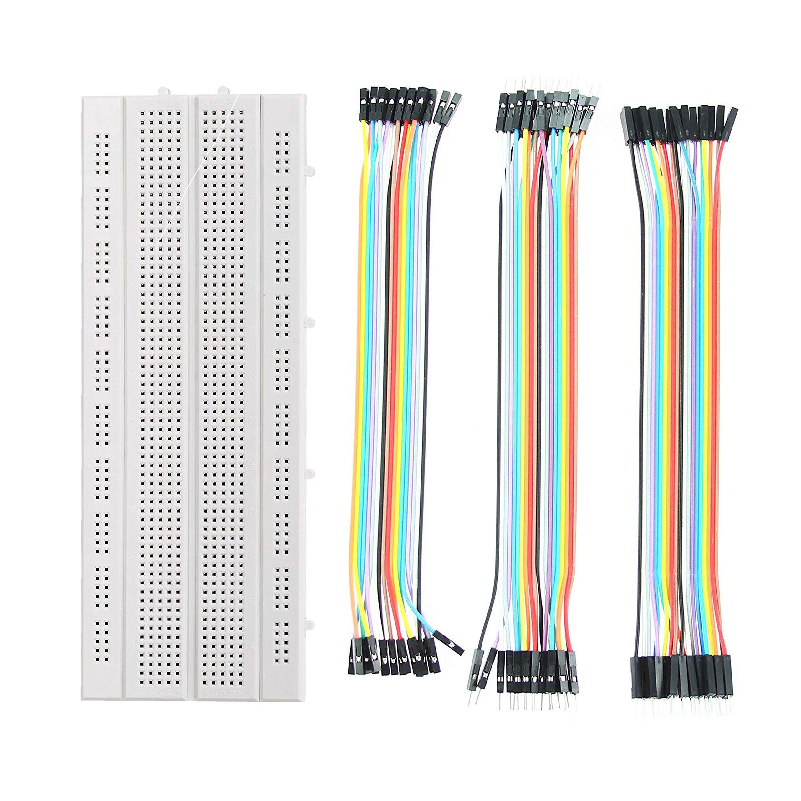 ApTechDeals Breadboard 840 point with jumper wires Set (20+20+20) (B07PMK8CMG) Amazon Price History, Amazon Price Tracker